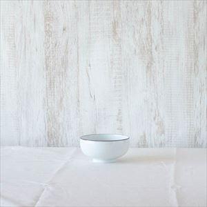 汁碗 白磁千段/白山陶器