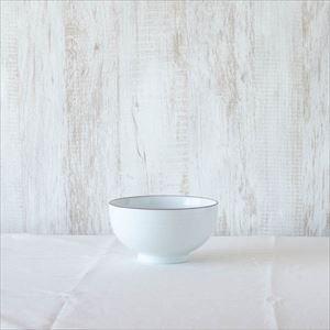 5寸深めん丼 白磁千段/白山陶器