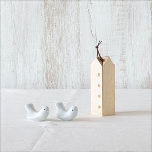 【セット】小鳥2羽とメープルのおうち 化粧箱入/箸置きとなべしき