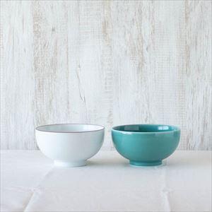 【セット】5寸深めん丼ペア 白磁&青磁 化粧箱入/白山陶器