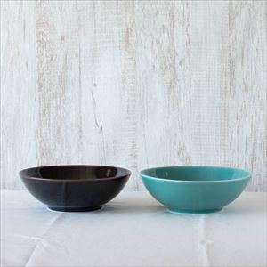 【セット】7寸平鉢ペア 天目&青磁 化粧箱入/白山陶器