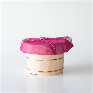 【セット】お櫃(おひつ) 三合 ピンクのふきんセット/木曽さわら
