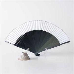 【セット】グラデーション扇子と富士山の末広がりセット ブラック 化粧箱入