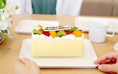 1616/aritaのスクエアプレートをケーキ皿で