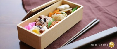 Wooden bento box for outing!
