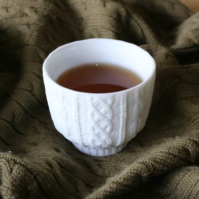 Stylish teacup of knit wear pattern!
