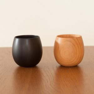 Start a life with stylish wooden cup!