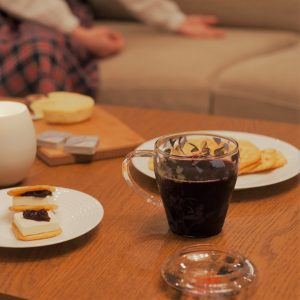 寒い夜にはホットワインとチーズフォンデュでまったり♪