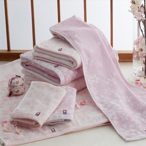 美しいさくらのタオル 今治謹製のさくら紋織タオル