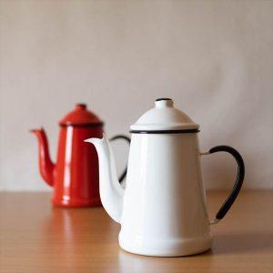 美味しいコーヒーのためのドリップポット 野田琺瑯のランブルポット