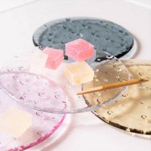 キラキラ水玉模様のお皿 ドロップレット